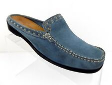 Minnetonka Women's Mules Size 7M Slip On Blue Suede Mocs Shoes