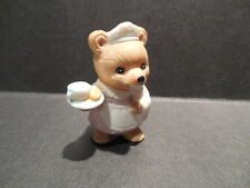Homco Teddy Bear Maid Porcelain Figurine ~ Sri Lanka 8820