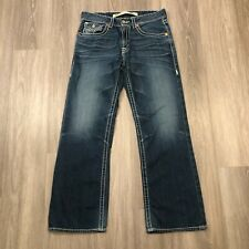 Big Star Mens Size 34S Inseam 30 Pioneer Boot Blue Jeans 100 Cotton
