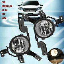 For 2007-2009 Honda CRV Front Bumper Driving Fog Lights 55W H11 Bulb Clear Lens