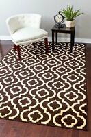 FREE & FAST SHIPPING BROWN CARPET 3028 BROWN MOROCCAN TRELLIS AREA RUG LARGE NEW