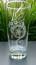 Highball Glass engraved with Dragon and Pentacle Design - New - Personalised