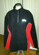 KARBON BLACK RED MENS FLEECE PULL OVER WARM UP SKI JACKET XL