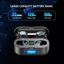 Bluetooth earbuds wireless 5.0 iPhone Android sport power bank with LED display