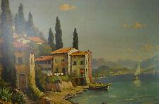 Capri italienische Küstenlandschaft maritimes Gemälde Willy Hanft Düsseldorf