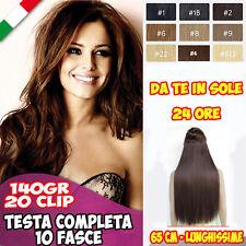 Extension Clip, testa completa 10 Fasce, 140gr 20 Clip Colori a Scelta Come Veri