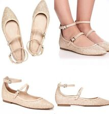 💝 Mimco New  Marble Arch Ballet $149 Flats Shoes Sandals  Size 37 Or 8