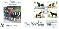 5 JULY 1978 SHIRE HORSES BENHAM BOCS4 CARRIED FIRST DAY COVER COURAGE SHS (w)