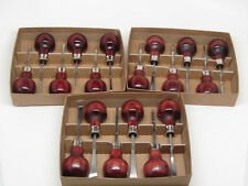 18pc Woodcarving Tools Gunsmith Palm Gouges Chisels RAMELSON USA 117R 117M 117H