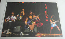 Vintage music pin-up poster Anthrax 1987 rock & roll memorabilia group stage 80s