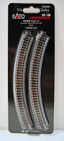 "Kato 20100 N Gauge Unitrack R9 3/4""-45 Degree Curved Track 4pcs. R249-45 New"