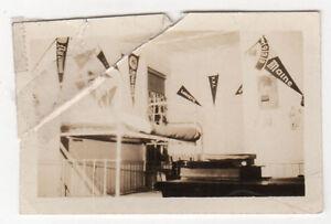 Original 1930 Photograph Photo UNIVERSITY MAINE ORONO Pennant HARVARD Yale DORM
