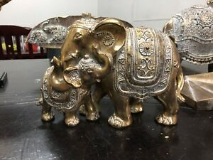 MANTRA White Dusted MUM & BABY Elephants Decor New Item Australian Designer!!!