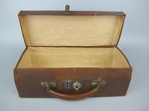 """1920's - 30's vintage antique faux leather Case Box Briefcase. 12"""" x 5.5"""" x 4"""""""