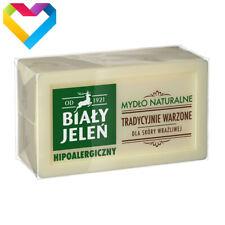 BIALY JELEN NATURAL HYPOALLERGENIC GREY SOAP - NATURALNE SZARE MYDLO 150g