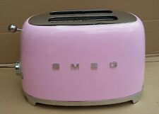 Smeg Toaster 2 Slice Pink retro style