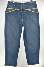 Marithe Francois Girbaud Mens Blue Jeans Size 38M 38 Straight Meas. 38x34