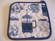 NOW DESIGNS Potholder Hot Pad HOT BREWS Vintage Coffee Pot NWT 100% Cotton