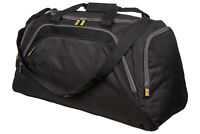 Mens Large Sports & Gym Duffle Holdall Bag TRAVEL SPORT WORK / BLACK & GREY 26