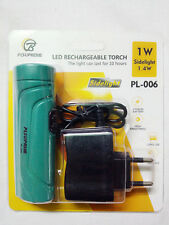 PLSUPREME RECHARGEABLE LED TORCH WITH 7 LED SIDELIGHT