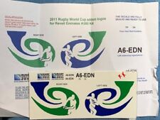 New listing Airbus A.380 1/144 Emirates Rugby World Cup 2011 special markings decals for Rev