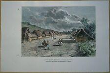 1889 Reclus print SAIPAN, NORTHERN MARIANA ISLANDS, PACIFIC OCEAN (#46)