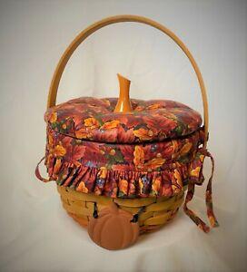 Longaberger 1996 Pumpkin Basket Combo