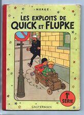 Hergé - QUICK ET FLUPKE 1e série COULEURS. B10 - 1954. Superbe état