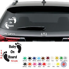 Baby On Board Funny Car Child Sticker with Feet, Window Bumper, Vinyl Decal