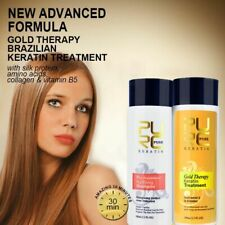 Gold Therapy Keratin Treatment New Advanced Formula Hair Care Repair Damaged