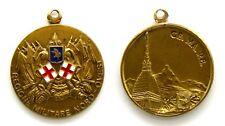 Medaglia Regione Militare Nord-Ovest CE. MA. RE. Bronzo Dorato cm 2,9 Peso g 10