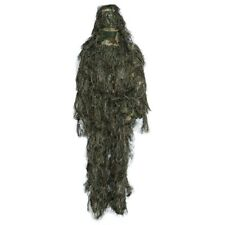 4 Pieces Hunting Woodland Camo Sniper Ghillie Suit Tactical Camouflage Clothing