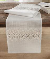 Tischläufer Häkelmuster 40 cm x 140cm, Tischdekoration, Tischdecke, Läufer, weiß