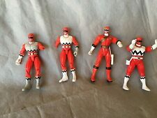 Power Rangers Lot of 4 Red Ranger action figures  Various Years