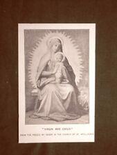 La Vergine ed il Bambino Affresco di Deger Stampa del 1888