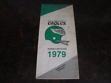 Philadelphia Eagles---1979 Training Camp Roster---4x9 Folded---XHTF