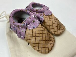 Freshly Picked Sz 6 With Sprinkles On Top Pink Icecream Moccasins Leather Shoes