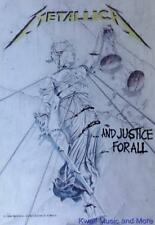 "Metallica Rock flag/ Tapestry/ Fabric Poster ""And Justice For All"" New"