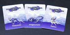 3pcs/set Monster Hunter Rise amiibo card: Palamute Magnamalo Palico - US seller