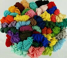 Aunt Lydias Heavy Rug Yarn 55 Colors 70-180 Yd Skeins Rayon Cotton Vtg You Pick