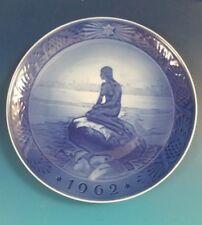 "1962 Royal Copenhagen Rc Christmas Plate ""Little Mermaid"""