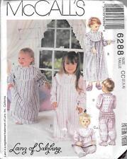 UNCUT sewing pattern McCall's 6288 kids 2-4 sleep wear gown pajama jumpsuit