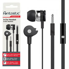 In-Ear Stereo Headset A1 für LENOVO Moto G4 Play / G4 Plus in schwarz