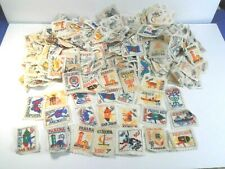 VINTAGE QUILT SQUARES *320 FOREIGN & USA POSTAGE STAMP CLOTH PATCH LOT #2*