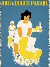 Publicité doll & buggy parade Art Poster Print lv659