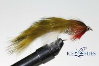 ICE FLIES. Streamer fly, Sili . Size 2, 4, 6, 8 and 10 (3-pack)