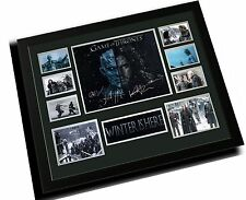 GAME OF THRONES CAST WINTER IS HERE SIGNED LIMITED EDITION FRAMED MEMORABILIA