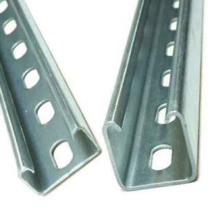 Legrand Unistrut Channel 41x41 41x21 Slotted or Plain 3m Lengths Pre Galv