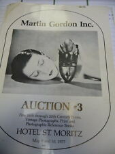 Martin Gordon Inc. Auction 3 Hotel St. Moritz 1977 Auktionskatalog