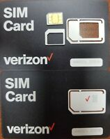 NEW VERIZON Nano, Micro, standard SIM Card 4G LTE • NEW Genuine OEM • 3 IN 1